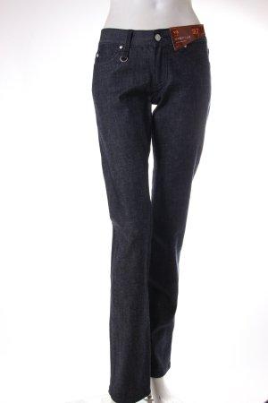 Jeans taille basse noir-bleu foncé coton