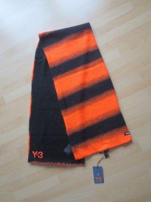 Y-3 Yohji Yamamoto Schal in Schwarz und Orange