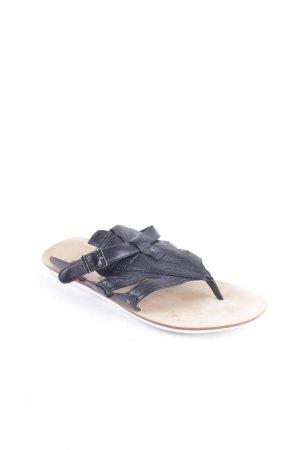Y-3 Zehentrenner-Sandalen schwarz Casual-Look