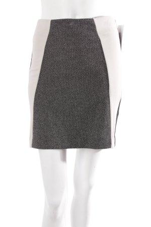 Y.A.S. Shirtrock schwarz-beige gemustert