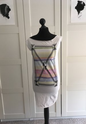 Robe tube multicolore coton