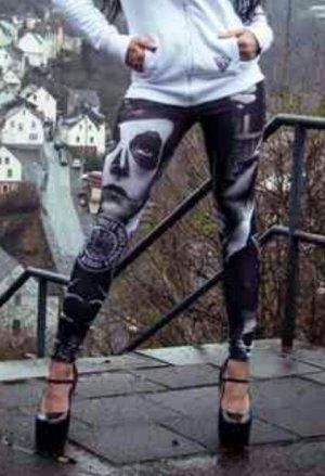 Yakuza Leggings black-white