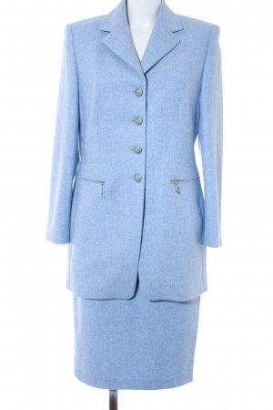 Yarell Business Suit azure flecked business style