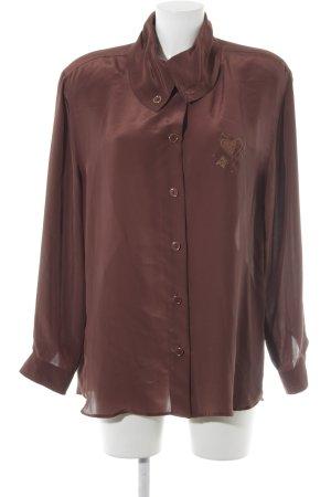 Yarell Oversized Bluse braunrot-hellbraun Elegant