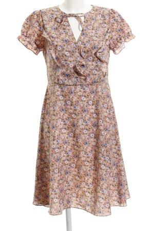 YAS A-Linien Kleid florales Muster Casual-Look
