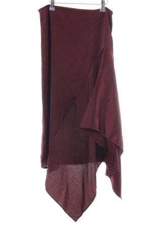YAS Falda asimétrica rojo oscuro elegante
