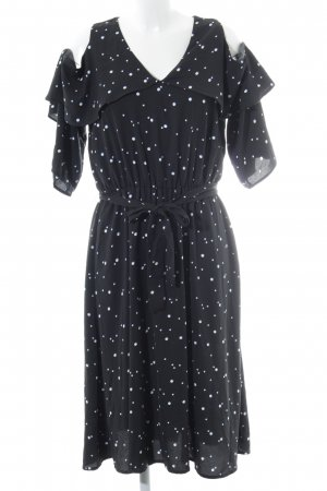 YAS Blusenkleid schwarz Punktemuster Elegant