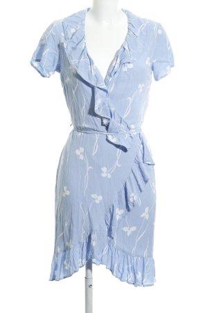 YAS Cardigan blau-weiß Blumenmuster Casual-Look