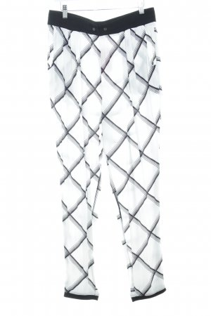 YAS Pantalón estilo Harem blanco-negro estampado a cuadros estilo urbano