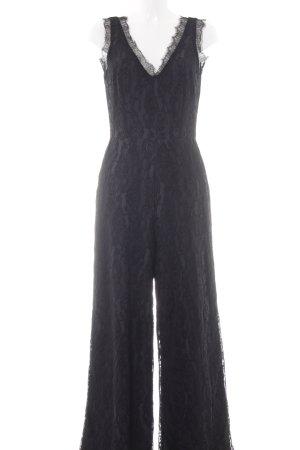 YAS Jumpsuit schwarz-grauviolett florales Muster Elegant