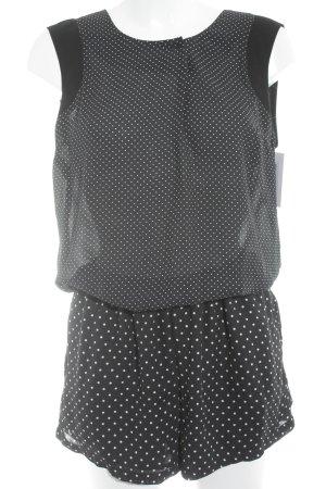 YAS Jumpsuit schwarz-weiß Punktemuster Casual-Look
