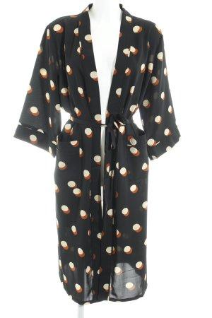 YAS Kimono estampado a lunares look casual