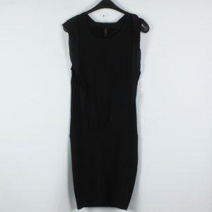 YAS Kleid Gr. 38 schwarz Rüschen (19/03/076)