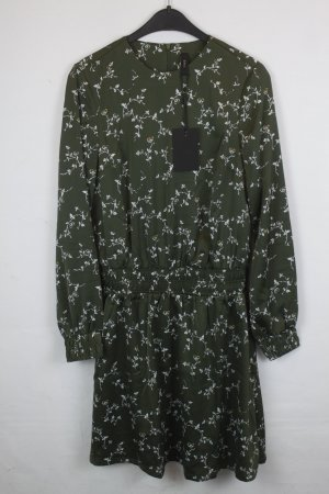 YAS Kleid Gr. S grün mit Pflanzen Print NEU mit Etikett (18/4/122)