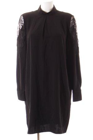 YAS Langarmkleid schwarz Elegant