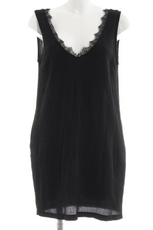 YAS Minikleid schwarz schlichter Stil