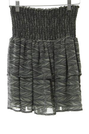 YAS Minirock grau-schwarz abstrakter Druck Street-Fashion-Look