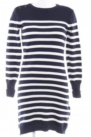 YAS Sweater Dress dark blue-white striped pattern casual look
