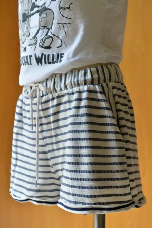 YAS High-Waist-Shorts multicolored cotton