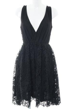 YAS Spitzenkleid schwarz florales Muster Elegant