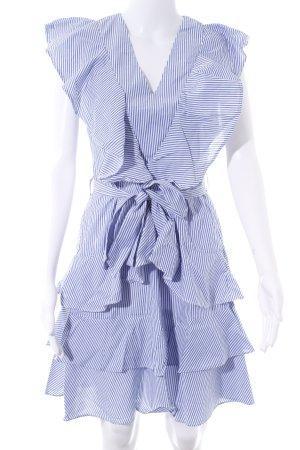 YAS Vestido estilo flounce blanco-azul acero estampado a rayas look casual