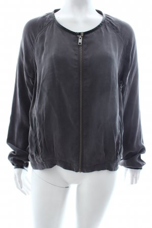 Yaya Blouson anthrazit-schwarz Materialmix-Look