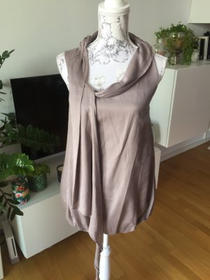Yaya Fashion Top Seide taupe Gr S wie neu