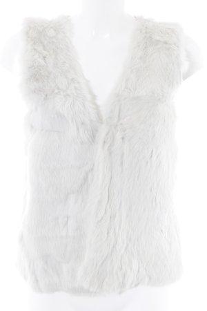 Yaya Smanicato di pelliccia bianco sporco-grigio chiaro look vintage