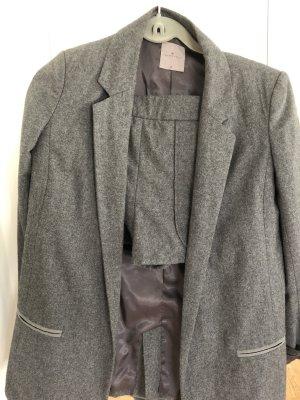 Yaya Traje de pantalón gris oscuro-gris antracita