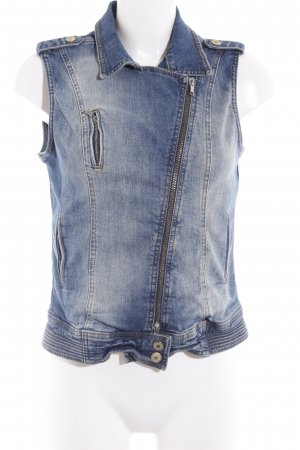Yaya Denim Vest dark blue-cream urban style