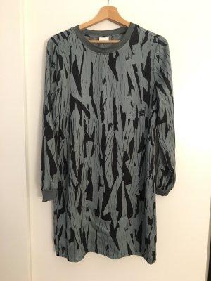 Yaya Shirt Dress cadet blue-black viscose