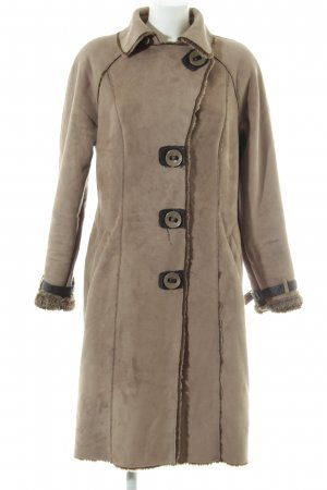 Yaya Fake Fur Coat brown casual look