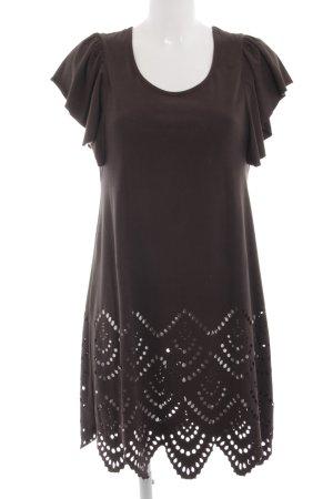 Yaya Kurzarmkleid braun Street-Fashion-Look