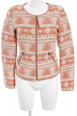 Yaya Short Jacket salmon-cream Aztec pattern street-fashion look