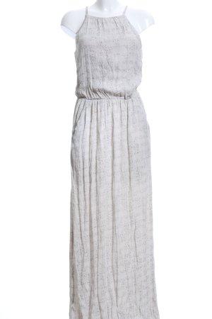 Yaya Maxi-jurk licht beige-grijs abstract patroon Beach-look