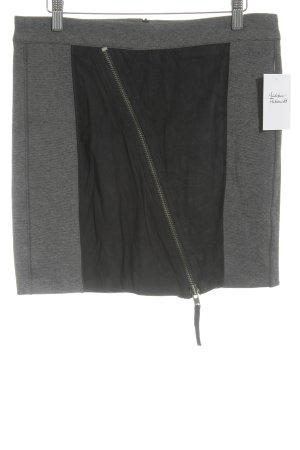 Yaya Minirock schwarz-grau Casual-Look