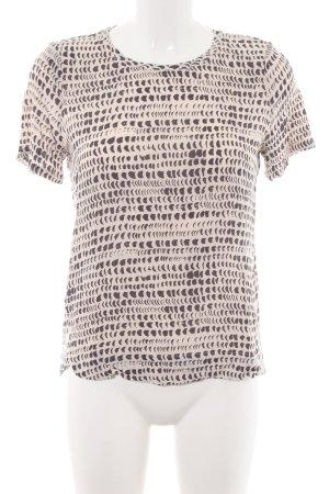 Yaya Print-Shirt creme-braun Allover-Druck Casual-Look