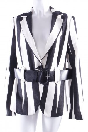 Yaya Sophisticated Blazer schwarz-weiß gestreift