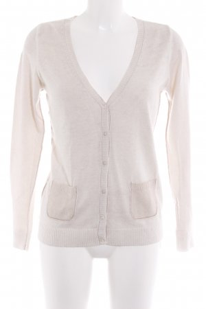 Yaya Strick Cardigan hellbeige Motivdruck Casual-Look