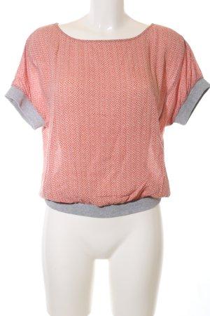 Yaya T-Shirt Allover-Druck Casual-Look