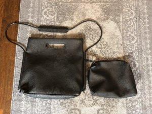 Yaya Carry Bag black imitation leather