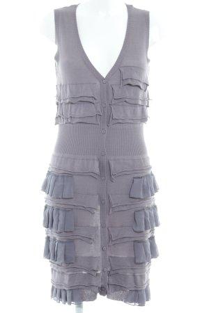 Yaya Vestido de lana violeta grisáceo look con capas