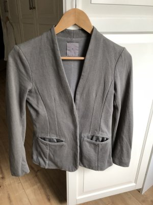 Yaya Blazer sweat gris