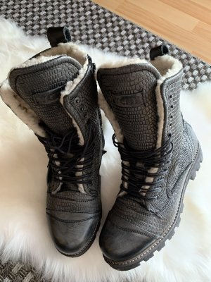 Yellow cab Winter Boots black-grey