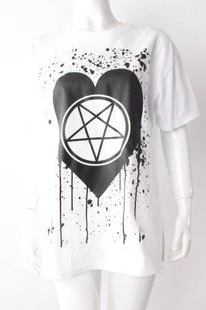 YDWYA T-Shirt weiß mit Print