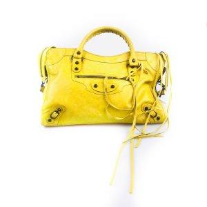 Balenciaga Bolsa de hombro amarillo