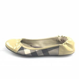 Yellow  Burberry Flat