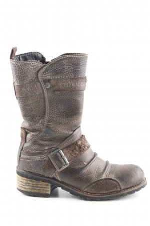 Yellow cab Short Boots grey brown casual look