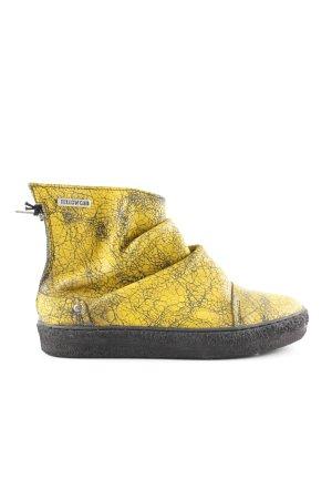 wholesale dealer 5f33e 62c83 Yellow cab Stivaletto con zip giallo pallido-nero stampa integrale stile  casual