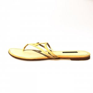 Yellow  Louis Vuitton Flip Flop